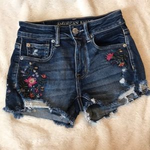 AE embroidered shorts